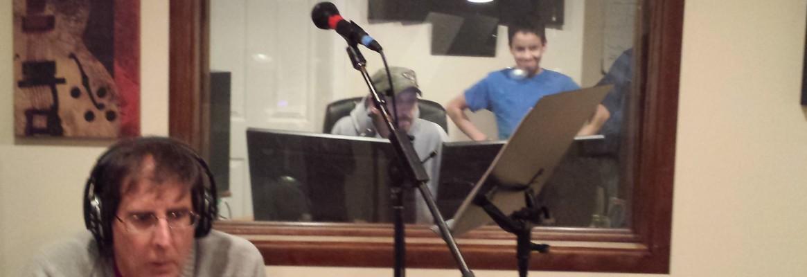 Rick Stevens listens to recording.